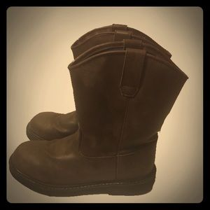 "Big Kids Georgia Boot 7"" Wellington Brown 4.5"